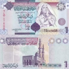 Libia 1 Dinar 2009 Gaddafi UNC - bancnota africa