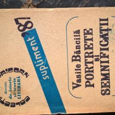Vasile Bancila - Portrete si semnificatii (Revista de istorie si teorie literara