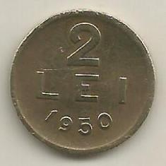 ROMANIA 2 LEI 1950 [20] livrare in cartonas - Moneda Romania, Cupru-Nichel