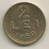ROMANIA   2  LEI  1950    [9]    livrare in cartonas, Cupru-Nichel