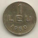 ROMANIA   1  LEU  1950  [8]    livrare  in  cartonas, Cupru-Nichel
