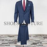 Costum Elegant Barbati - Slim Fit, Cod:150-230 (Culoare: Bluemarin, Marime Costum: 56) - Costum barbati
