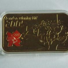 Lingou de argint suflat cu aur de 24 k The Road to London 2012