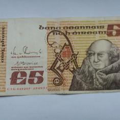 Irlanda 5 lira-pound 1991