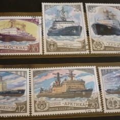 RUSIA 1978 - VAPOARE, serie stampilata, CD176 - Timbre straine