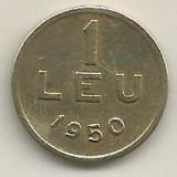 ROMANIA   1  LEU  1950  [10]    livrare  in  cartonas, Cupru-Nichel
