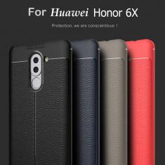 Husa / Bumper Antisoc model PIELE pentru Huawei Honor 6X
