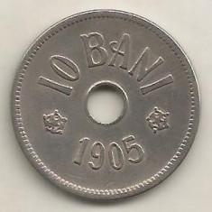 ROMANIA 10 BANI 1905 [1] livrare in cartonas - Moneda Romania, Cupru-Nichel
