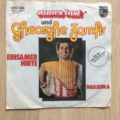 Gheorghe zamfir & james last einsamer hirte nadjenka disc single muzica nai pop - Muzica Pop Philips, VINIL