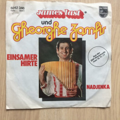 Gheorghe zamfir & james last einsamer hirte nadjenka disc single muzica nai pop - Muzica Pop Philips, VINIL