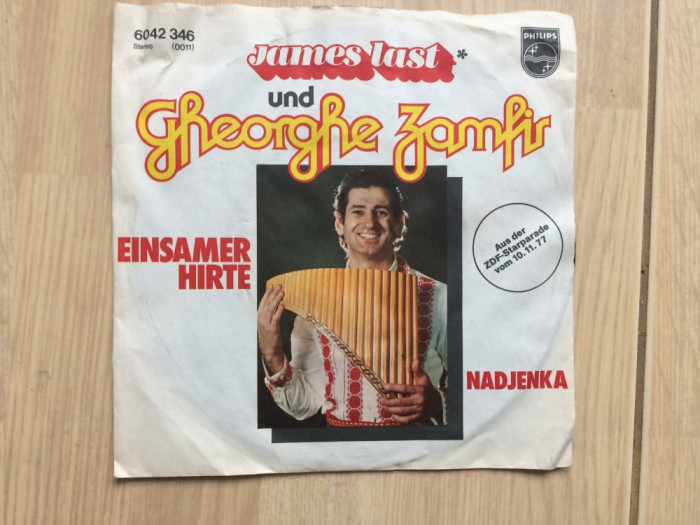 gheorghe zamfir & james last einsamer hirte nadjenka disc single muzica nai pop