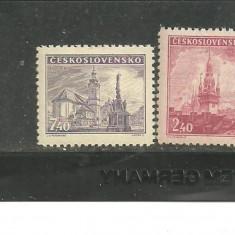 Cehoslovacia 1946 - BISERICI SI CATEDRALE, serie nestampilata CD156