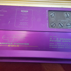 Amplificator Auto Statie Auto Pt Swoofer Purple Power Gold Pa 740, 161-200W