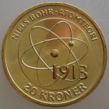 "DANEMARCA KM#NEW - 20 Kroner 2013 UNC ""NIELS BOHR"", Europa"