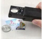 Lupa cu led si lentile de 21/12 mm,marire 10X/30X si lampa UV