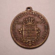 Martisorul Flotei Nationale 1913 50 bani - Medalii Romania