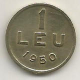 ROMANIA   1  LEU  1950  [17]    livrare  in  cartonas, Cupru-Nichel