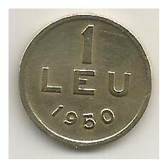 ROMANIA 1 LEU 1950 [17] livrare in cartonas - Moneda Romania, Cupru-Nichel
