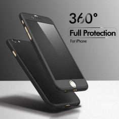 Husa 360° iPhone 5/5S/SE/7/ Samsung S7 / S7 Edge - Husa Telefon, Negru