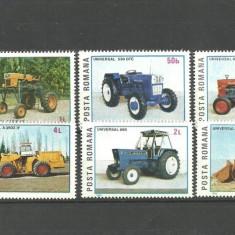 Romania 1985 - TRACTOARE ROMANESTI, serie nestampilata CD88 - Timbre Romania