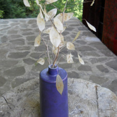 Doua vaze faianta germana, forme diferite, h 20cm si h 18cm - Vaza si suport flori