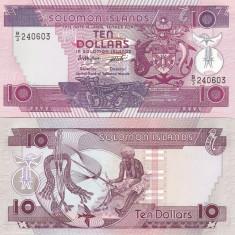 Insulele Solomon 10 Dollars 1986 UNC