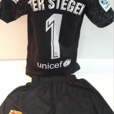 Echipamente fotbal portar pentru copii F.C.Barcelona Ter Stegen model nou 2017 - Echipament portar fotbal