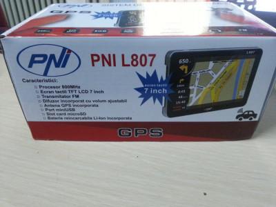 Sistem GPS PNI L807 inch 800 MHz 256M DDR cu 4 PROGRAME igoPrimo harti HERE 2019 foto