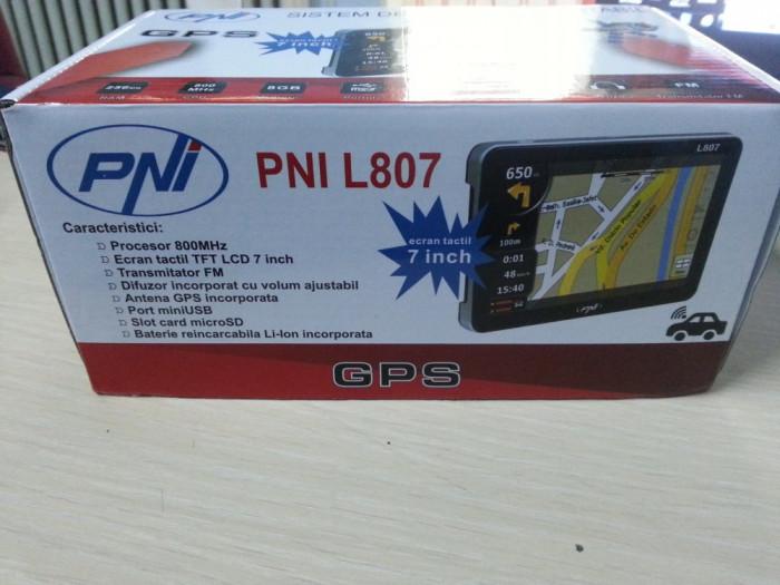 Sistem GPS PNI L807 inch 800 MHz 256M DDR cu 4 PROGRAME igoPrimo harti HERE 2019