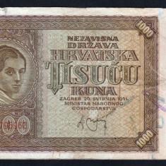 Croatia 1000 kuna 1941 - bancnota europa