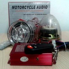 Boxe motocicleta, scuter, bicicleta cu mp3 player si alarma