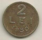 ROMANIA   2  LEI  1950    [13]    livrare in cartonas, Cupru-Nichel