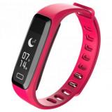 Bratara fitness iUni G16, Bluetooth, LCD 0.86 inch ,Notificari, Pedometru, Monitorizare Sedentarism, Puls, Oxigen sange, Pink MediaTech Power