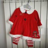 Costum Craciunita Mothercare 6-9 luni - Costum Mos Craciun
