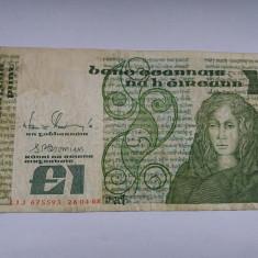 Irlanda 1 lira-pound 1988