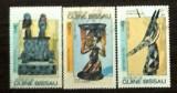 GUINEA BISSAU 1984 - ARTA AFRICANA TRADITIONALA, 3 timbre stampilate, DF12