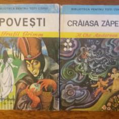 Craiasa Zapezii + Povesti de Grimm / R3P5F - Carte de povesti