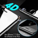 Folie sticla 4D/Iphone 6/6s/7/7+ si Samsung S6/S6 Edge/S7 Edge/S7/S8, A+