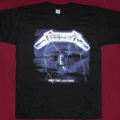 Tricou Metallica - Ride The Lightning, S,M,XXXL,calitate 180 grame