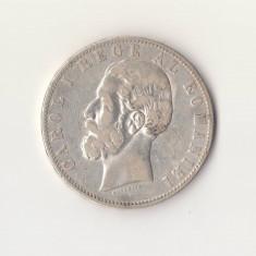 Moneda din argint 900/1000 - 25 grame - 5 Lei 1883 - Carol I - Moneda Romania