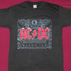 Tricou AC/DC-Black Ice ,calit 180 gr,inclusiv XS,de copii, formatii rock, L, S, Maneca scurta, Negru