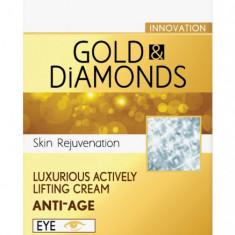 CELEBRITY LINE Crema anti-rid contur ochi cu Aur si Pudra de Diamante 15ml - NVS-194372 Pure Sensation - Crema conturul ochilor