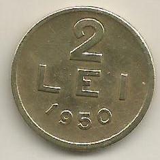 ROMANIA 2 LEI 1950 [3] XF, livrare in cartonas - Moneda Romania, Cupru-Nichel