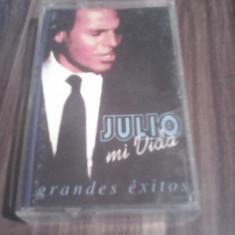 CASETA AUDIO JULIO IGLESIAS-MI VIDA ORIGINALA - Muzica Ambientala, Casete audio