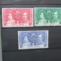 1937 HONG KONG, COLONII BRITANICE SERIE NESTAMPILATA