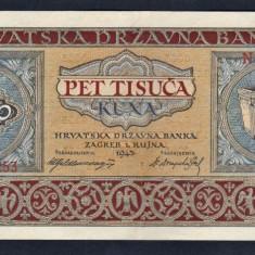 Croatia 5000 Kuna [2] N0983253 1943 - bancnota europa