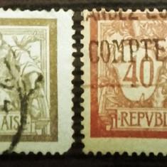 FRANTA 1900 - TIPOGRAFIATE TIP MERSON, serie stampilata CD103