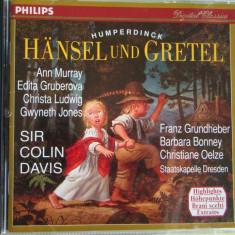 HUMPERDINCK - Hansel and Gretel - C D Original ca NOU (Philips) - Muzica Clasica
