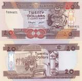 Insulele Solomon 20 Dollars 1986 UNC