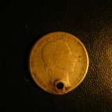 Moneda 1/4 Florini 1861 Austria Fr.Josef, argint, gaurita, d= 2, 4 cm, Europa